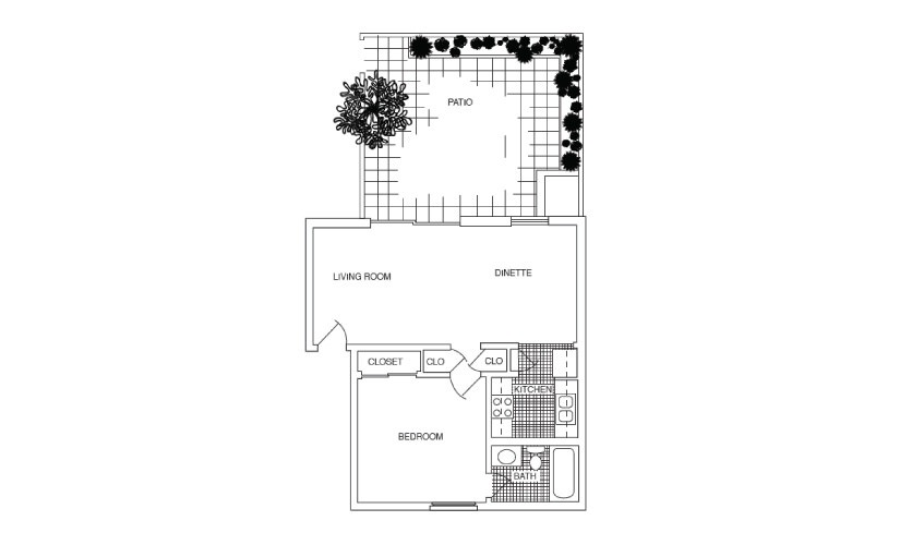 Studio, 1 & 2 bedroom apartments for rent at Carlton Arms of ...